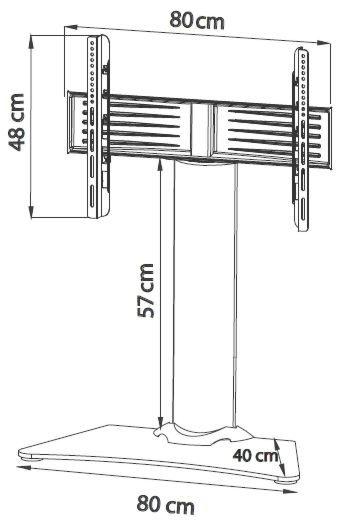 TV voet tafelmodel Windoxa MAXI