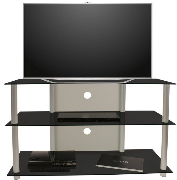 TV meubel TV kast Olopa XXL zwart glas