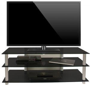 VCM TV Kast TV Meubel Zumbo Zwart Glas