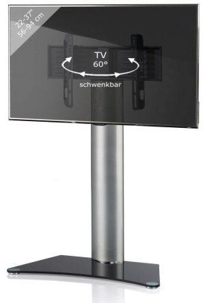 TV standaard Findal zwartglas draaibaar