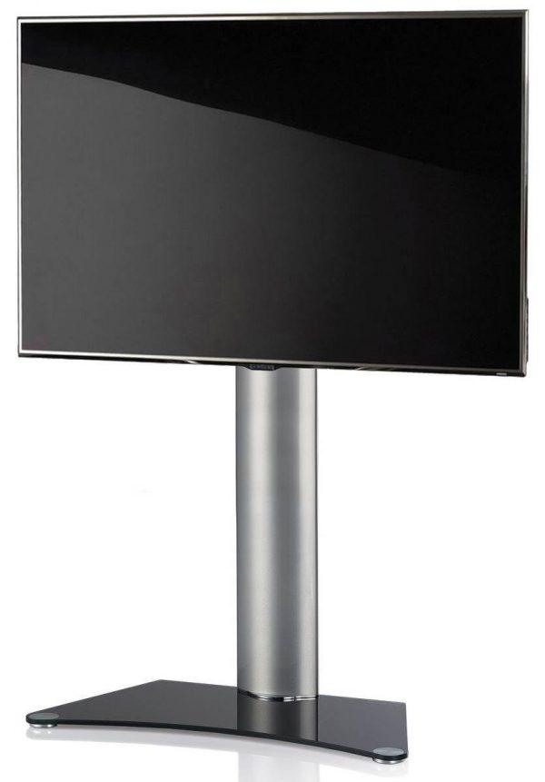 TV standaard Zental zwartglas.Deze tv standaard is verrijdbaar. Houder tot 30 graden draaibaar naar links en rechts. Geschikt voor TV's van 32-70 inch.