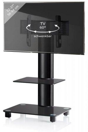 TV standaard Tosal verrijdbaar draaibaar zwart
