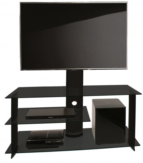 TV meubel Bulmo verrijdbaar draaibaar zwart