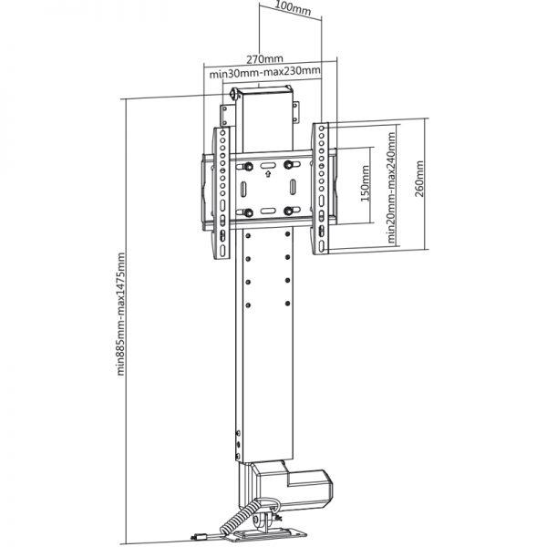 DQ Elektrische TV Lift 590
